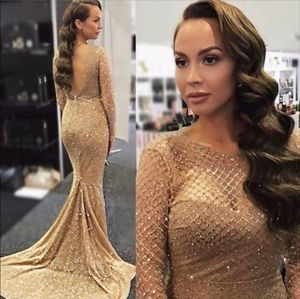 Gold formal dress 6